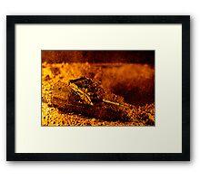 Blast On The Desert Framed Print