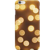 Abstract defocused and blur bokeh of small yellow flames iPhone Case/Skin