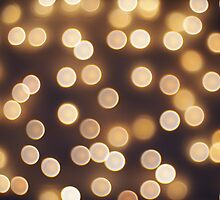 Abstract defocused and blur bokeh of small yellow flames by vladromensky