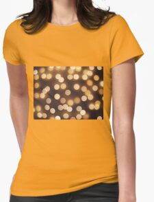 Abstract defocused and blur bokeh of small yellow flames Womens Fitted T-Shirt
