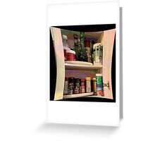 Spice Cabinet Greeting Card