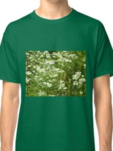 Herbs on the lawn - small white camomile flowers Classic T-Shirt