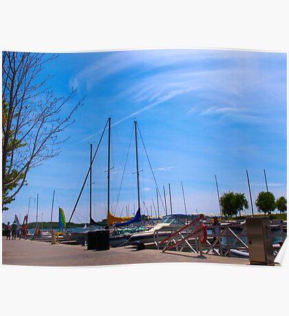 Puttering on Lake Ontario Poster