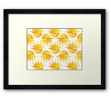 Sun Star Pattern Framed Print