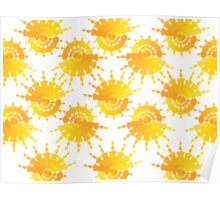 Sun Star Pattern Poster