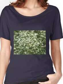 Herbs on the lawn - camomile flowers Women's Relaxed Fit T-Shirt