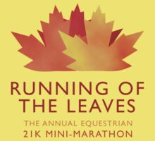 Running of the Leaves Baby Tee