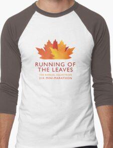 Running of the Leaves Men's Baseball ¾ T-Shirt
