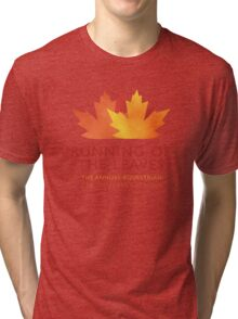 Running of the Leaves Tri-blend T-Shirt