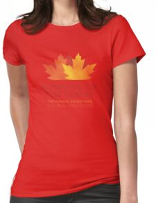 Running of the Leaves Womens Fitted T-Shirt