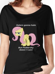 Fluttershy Haters gonna Hate Women's Relaxed Fit T-Shirt