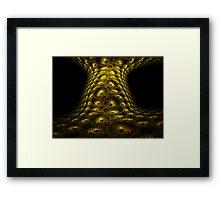 Reptile Tree Bark Eyes Framed Print