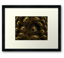 Fractal Reptile Eyes Framed Print