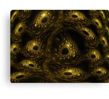 Fractal Reptile Eyes Canvas Print
