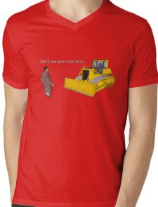Hitchhiker's Guide to the Galaxy: We'll See Who Rusts First Mens V-Neck T-Shirt