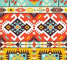 Aztec colorful fashion pattern by Olena Syerozhym