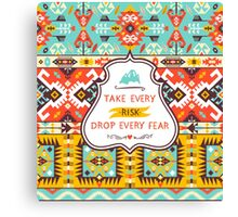 Aztec colorful fashion pattern Canvas Print
