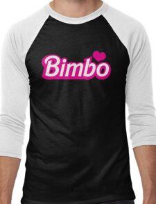 Bimbo in cute little dolly doll font Men's Baseball ¾ T-Shirt