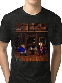 Drinking contest with Rum Rogers Jr (Monkey Island 2) Tri-blend T-Shirt