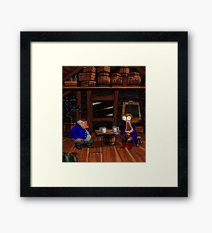 Drinking contest with Rum Rogers Jr (Monkey Island 2) Framed Print