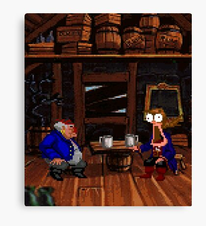 Drinking contest with Rum Rogers Jr (Monkey Island 2) Canvas Print