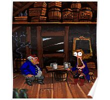 Drinking contest with Rum Rogers Jr (Monkey Island 2) Poster