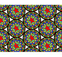 Flower Mandala Pattern Photographic Print
