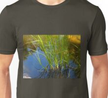 Water reeds growing out of the water Unisex T-Shirt