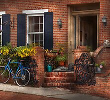 Bike - Waiting for a ride by Mike  Savad