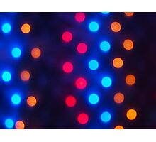 Defocused colored lights out of focus Photographic Print