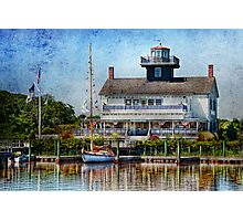 Boat - Tuckerton Seaport - Tuckerton Lighthouse Photographic Print
