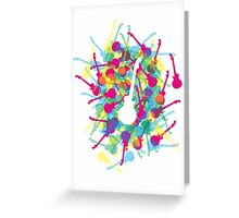 Rainbow Guitars Greeting Card