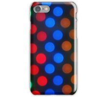 Defocused colored lights fill the entire frame iPhone Case/Skin