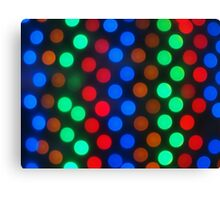 Defocused colored lights fill the entire frame Canvas Print