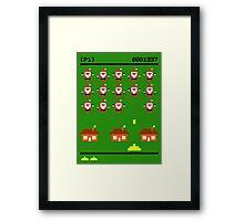 Santa Invasion Framed Print