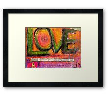 LOVE and all of its DIMENSIONS Framed Print