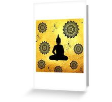 Yogi and Mandala Greeting Card