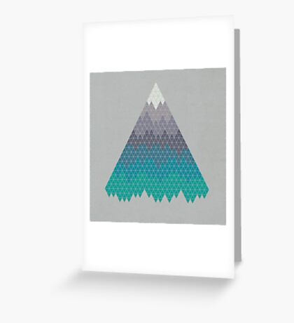 Many Mountains Greeting Card