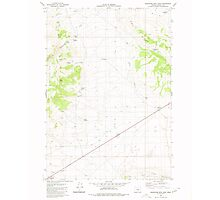 USGS Topo Map Oregon Wagontire Mtn East 281977 1980 24000 Photographic Print