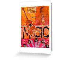 MUSIC Makes Me Wanna Dance Greeting Card
