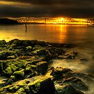 Rocky view towards the Forth Bridges by Don Alexander Lumsden (Echo7)