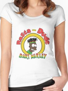 Rasta - Dude Bart Marley Women's Fitted Scoop T-Shirt