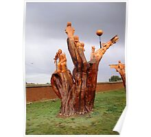 Chainsaw Sculptures, Campbell Town Poster