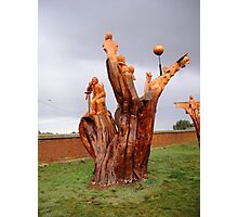 Chainsaw Sculptures, Campbell Town Photographic Print