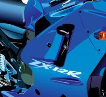 Kawasaki ZR12X motorbike Sticker