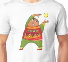 cheerful man with a ball Unisex T-Shirt