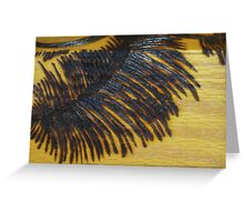 Pyrography Palm Frond Greeting Card