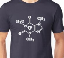 I Heart Caffeine Molecules Unisex T-Shirt