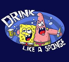 Drink like a sponge by NemiMakeit