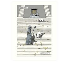 Prelude to battle - the White Queen-Bishop's Tale... Art Print